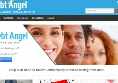 Web Design Projects | Debt Angel