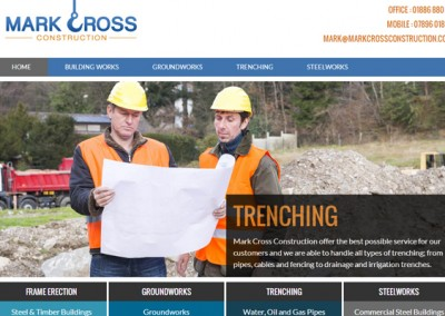 Web Design Project | Mark Cross Construction