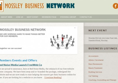 Web Design Project | Mossley Business Network