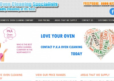 Web Design Project | Oven Cleaning North West