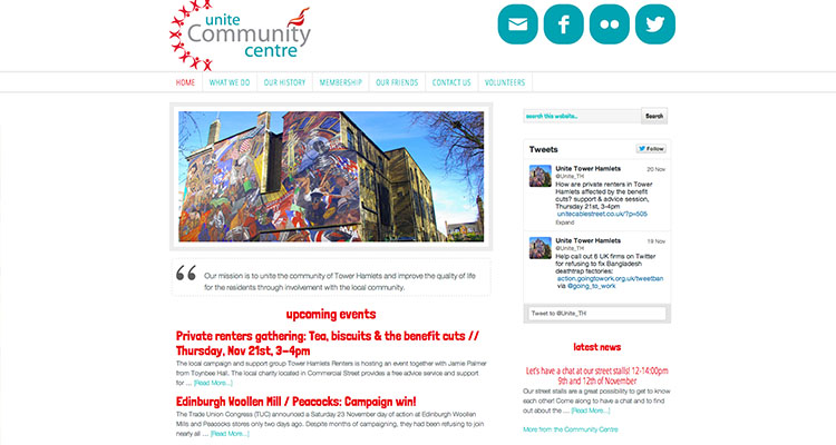 Unite Community Centre | Web Design Manchester