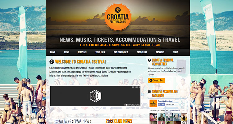 Croatia Festival | Wordpress Web Designer