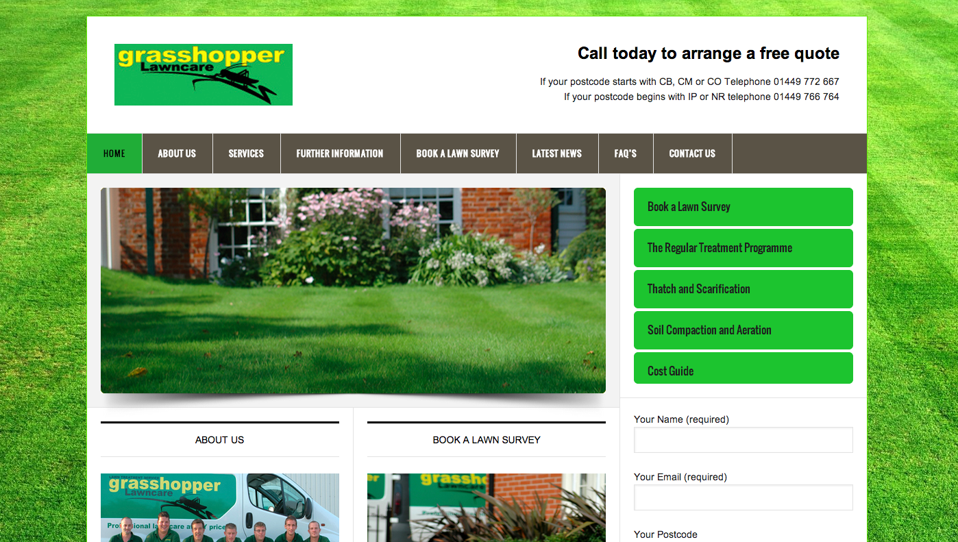 Grasshopper lawncare | gardening website