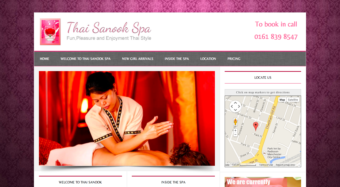 Thai Sanook Spa|Wordpress Web Design|Spa Website