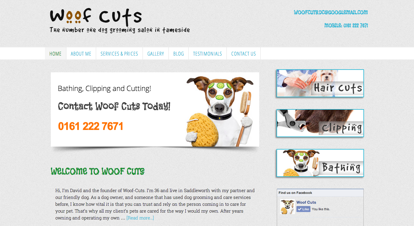 Woofcuts | Dog Grooming Website| Wordpress Web designer