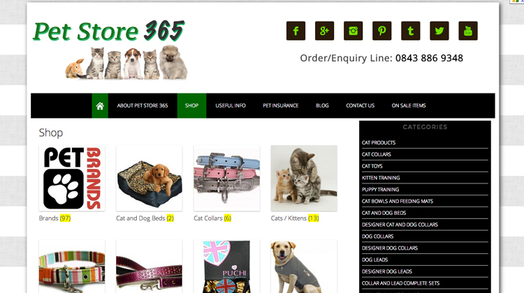 pet store category | Wordpress