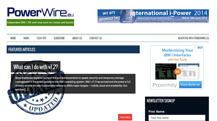 powerwire | Magazine style wordpress web design